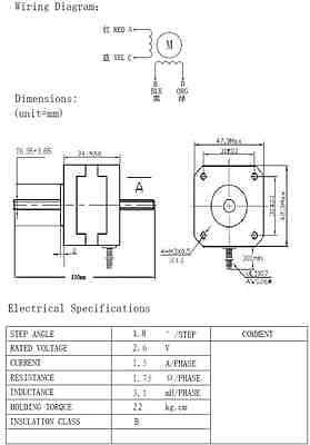 Through Shaft Linear Stepper Drive Motor Kit NEMA17 0.22N.M ... on nema 17 wiring-diagram cnc, nema 17 stepper motor controller, nema 17 stepper motor cable, nema 17 bipolar stepper motor, nema 17 stepper motor driver, nema 17 stepper 5 8oz wiring-diagram,