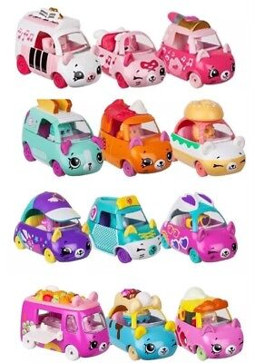 NEW Shopkins Cutie Cars 3 Pack Series 2- QT Lot - Free Shipping- Your Choice!