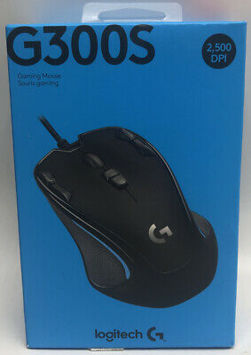 Logitech G300s Optical Ambidextrous Gaming Mouse – 9 Programmable Buttons,