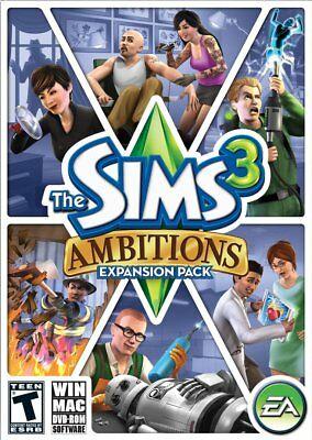 The Sims 3: Ambitions Expansion Pack - Add-On Windows Macintosh PC Computer (Sims 3 The Sims 3 Ambitions Packs)