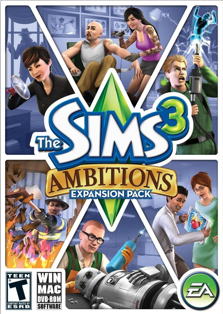Computer Games - The Sims 3: Ambitions Expansion Pack - Add-On Windows Macintosh PC Computer Game