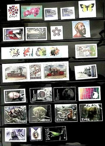 US 2019 stamps, MNH, 122 stamps, various