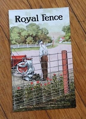 American Steel & Wire ROYAL FENCE Advertising Post Card wire yard farm fence