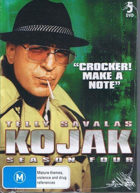 KOJAK Season Four 4 Telly Savalas - NEW & SEALED 5 x DVD Set FREE POST