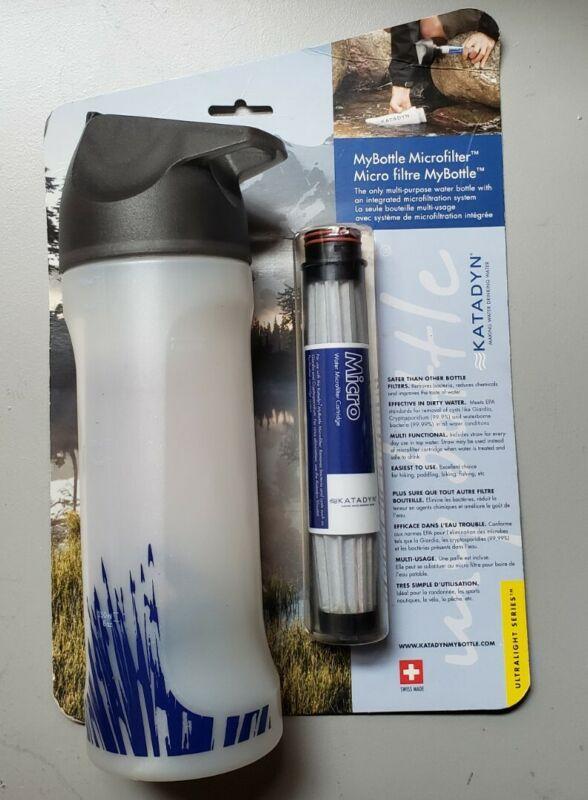 NEW Katadyn MYBOTTLE Water Purifier MicroFilter Bottle Purification Filter NIP