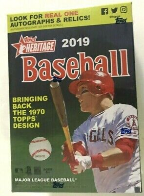 2019 TOPPS HERITAGE BASEBALL BLASTER BOX  LIVE AND READY TO SHIP !!