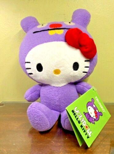 "Hello Kitty Gund Ugly Doll Trunko 7""  Purple Plush Stuffed Animal NWT V. Cute"