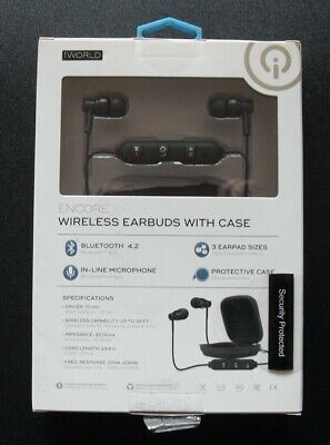 iWorld Encore Wireless Bluetooth Earbuds with Case