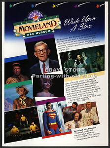 MOVIELAND WAX MUSEUM (Buena Park CA)__Orig 1988 video Trade AD promo__John Wayne