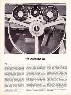 Plymouth Barracuda 1967 barracuda 383 4speed