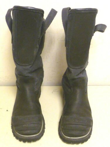 7 E Honeywell Pro Warrington Black Leather Firefighter Boots 5006 5006SG L167