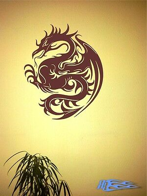 Wandtattoo Drache 8 oracal MATT Wandaufkleber Deko Geschenkidee China Japan (Idee Tattoo)