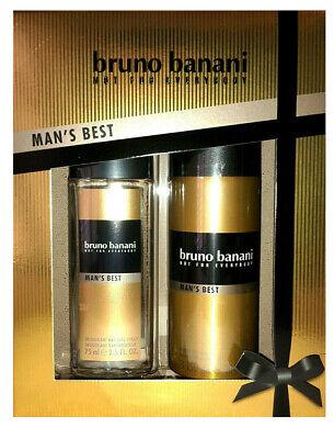 bruno banani Man's Best Geschenkset,Deo Natural spray 75 ml + Deo-Spray 150 ml