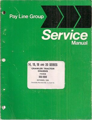 International Series 14 15 18 20 Crawler Tractor Chassis Service Manual