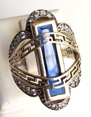 Turkish Handmade Jewelry Sterling Silver 925 Sapphire Ring 6 7 8 9