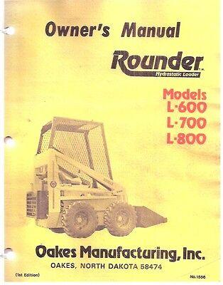 Rounder L-600 L-700 L-800 Skid Steer Loader Owners Manual