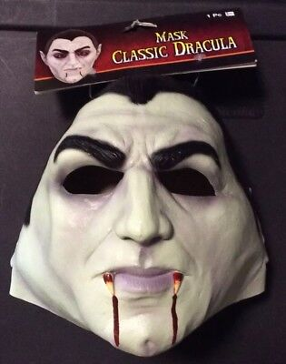 CLASSIC DRACULA HALLOWEEN LATEX MASK NEW WITH TAGS BEST ON MARKET WITH BLOOD](Halloween Best Masks)