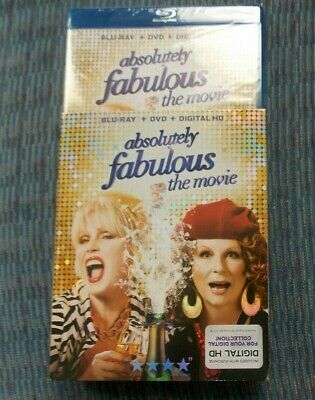 ABSOLUTELY FABULOUS: THE MOVIE BLU-RAY/DVD/HD & SLIPCOVER BRAND NEW FREE SHIPING