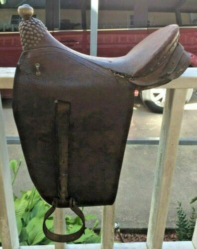 Antique African? English Western Saddle Rare Decor Turkish? Ethnic Tribal India?