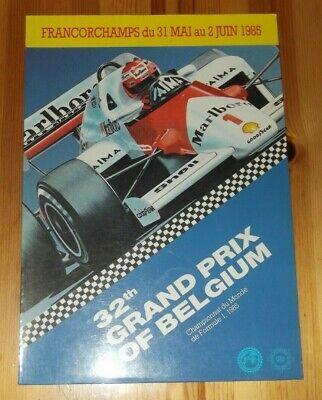 Usado, 1985 Programme Belgium F1 Grand Prix Spa Francorchamps Senna Mansell Niki Lauda comprar usado  Enviando para Brazil
