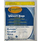 NuTone 391 Central Vacuum Bags 3 pack Made by Envirocare CF391 6/gal Allergen