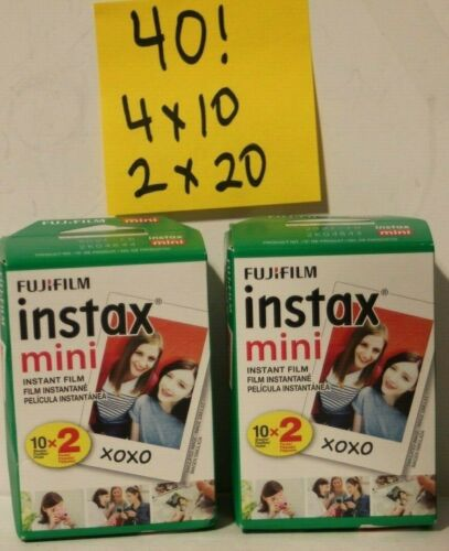 40 Sheets Fuji Instax Mini Instant Film f/ Model 7 7s 8 9 50 70 90 Camera fresh