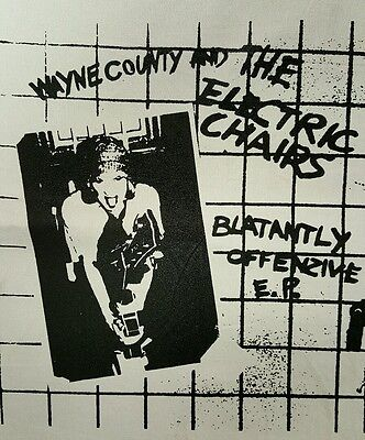 WAYNE COUNTY AND THE ELECTRIC CHAIRS POST PUNK ROCK WHITE CANVAS BACK PATCH