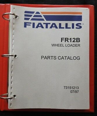 Genuine Fiat Allis 12 Fr12b Wheel Loader Tractor Parts Manual Catalog Very Good