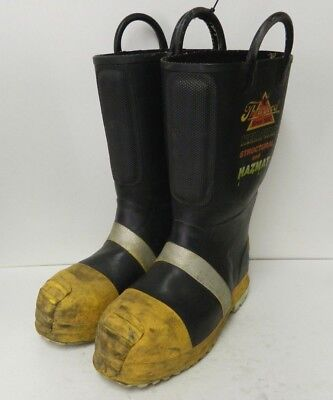 Thorogood Structural Hazmat Steel Toe Firefighter Fire Fighter Boots 9 Wide