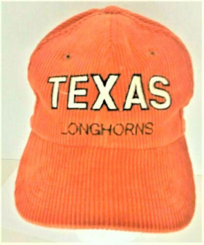 Vintage Texas Longhorn Corduroy Orange Snap Back Truckers Cap Hat