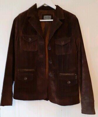 Vintage 90s  Leather Suede Ladies/ Unisex Jacket Coat Size 8