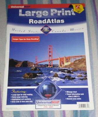 Large Print Road Atlas 2001 Edition