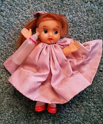 Vintage Rubber Japan girl doll ponytail