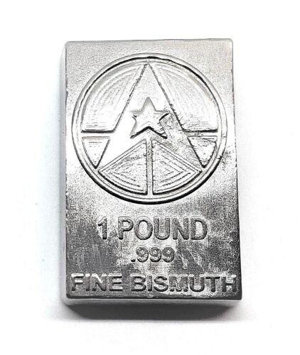 1 Pound .999 Fine Bismuth Bullion Bar - Hand Poured - Grimm Metals