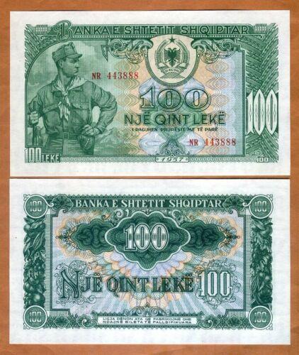 Albania, 100 leke, 1957, P-30, UNC > Soldier