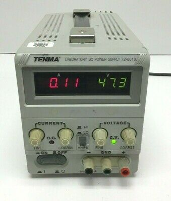 Tenma 72-6610 Laboratory Adjustable Dc Power Supply 0-30v 0-3a Load Tested