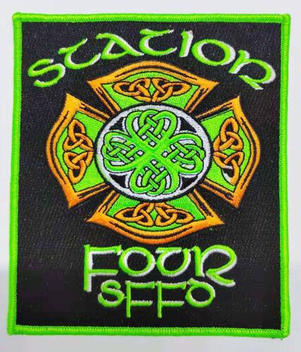 San Francisco Fire patch Station 4. Celtic Maltese with 4 leaf clover.