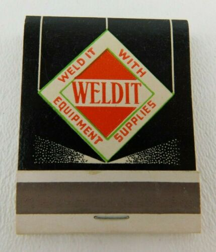 Weld it With Equipment Supplies Front Strike Full Unstruck Vintage Matchbook Ad