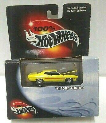 2000 Hot Wheels 100% Hot Wheels '71 Ford Torino Yellow Real Riders! PLEASE READ