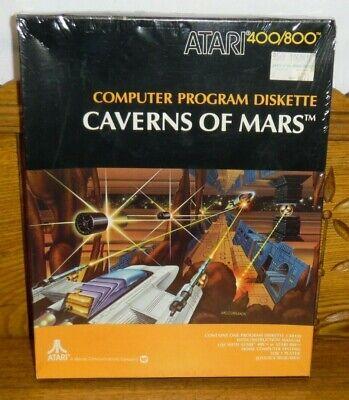 Sealed Vintage Atari 400/800 Computer Game - Caverns of Mars CX8130