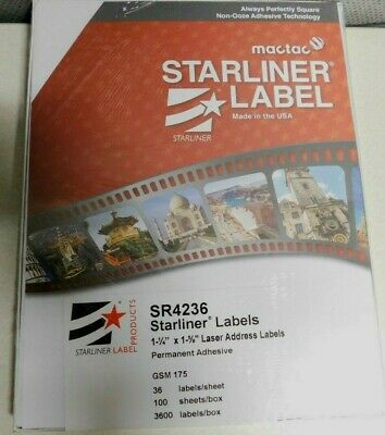 Starliner Premium Laser Address Labels 1-14 X 1-58 3600 Labels Per Box
