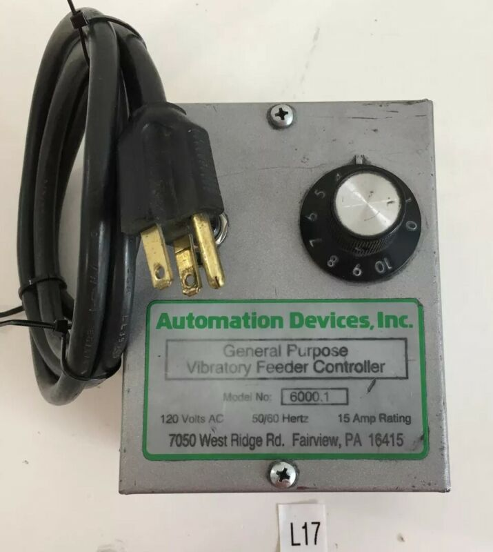 Automation Devices, Inc. 6000.1 General Purpose Vibratory Feeder Controller