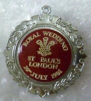 Royal Wedding St Paul's London 29th July 1981 Badge by Maesteg Community Council