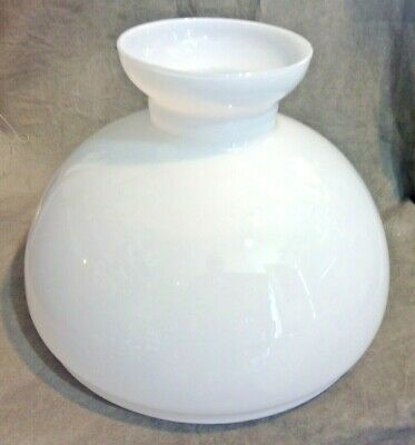 "13"" White Vianne Oil Lamp Shade for Rayo Lamp Globe"