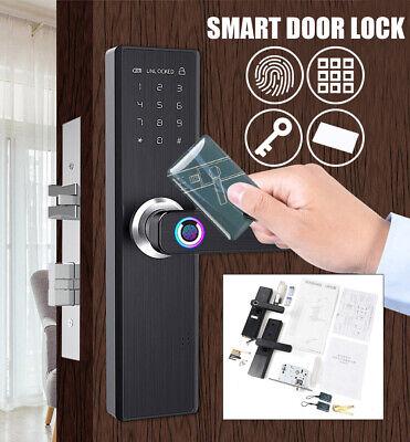 4-In-1 Digital Security Lock Fingerprint Touch Password Pad Smart Home Lock