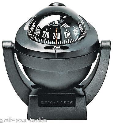 Boat Compass Marine Compass Plastimo Offshore 75 black Bracket Mount Compass