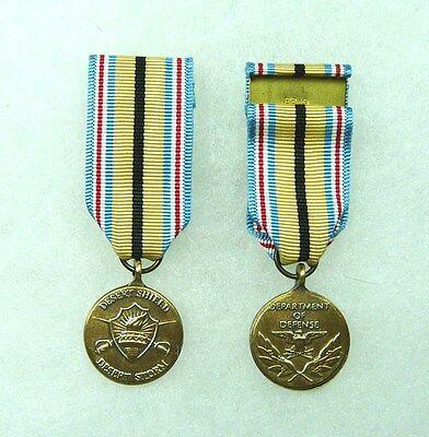 Dept of Defense, Desert Shield/Desert Storm Civilian Service Medal, miniature