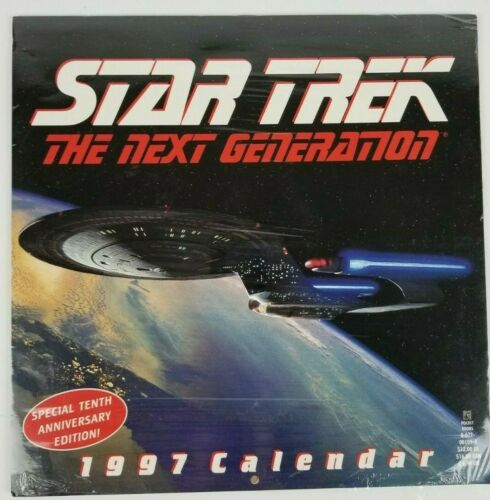 Star Trek The Next Generation Special 10th Anniversary 1997 Calendar New Sealed