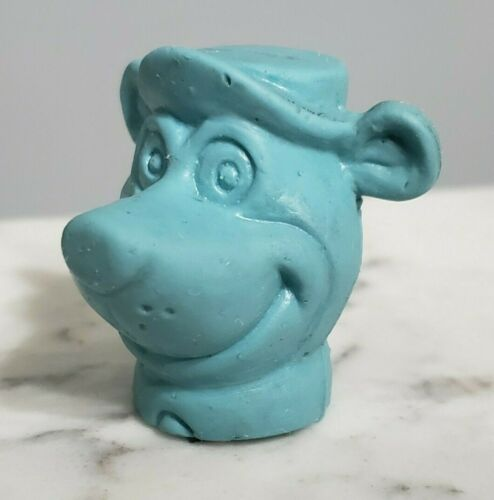Vintage 1976 Yogi Bear Pencil Topper Eraser Blue