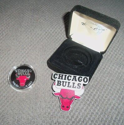 NBA Chicago Bulls Solid Silver Coin Limited Edition NBA Champions 1996